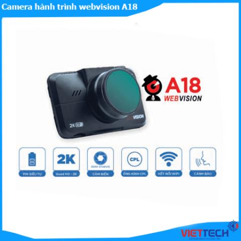 Camera Hành Trình Webvision A18 AI Nét 2K Cảnh Báo Giao Thông