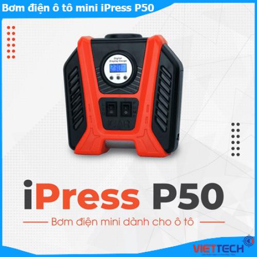 Bơm điện mini iPress P50 hãng Icar dành cho tô tô, tự động ngắt hơi