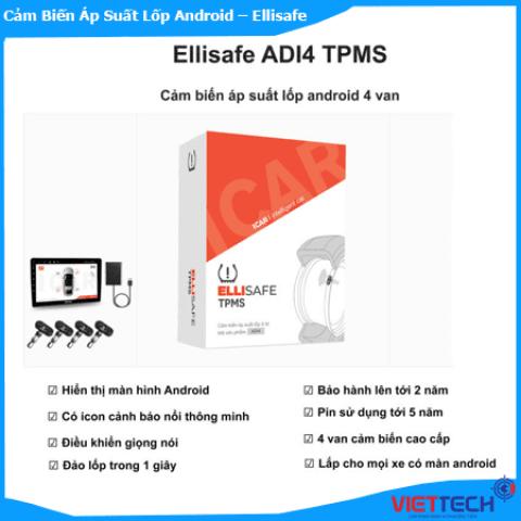 Cảm biến áp suất lốp ICAR ADI4 Có 4 Van Xem Qua DVD Android