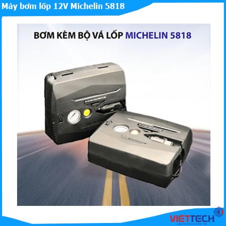 Máy Bơm Ô tô, xe máy kèm vá lốp Xe Khẩn Cấp 12V Michelin 5818 - Hàng Chính Hãng